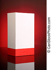 Blank Red White Packaging Box for Mockups