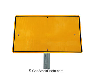 Blank Reflective Yellow Sign
