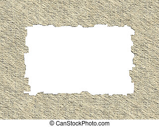 Blank Retro Paper Frame Texture with Clipping Path