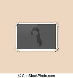 Blank retro photo, vector illustration.