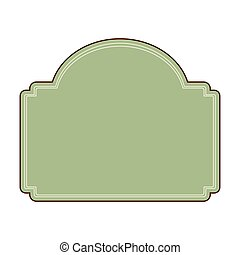 blank retro vintage badges