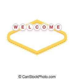 Blank retro welcome sign
