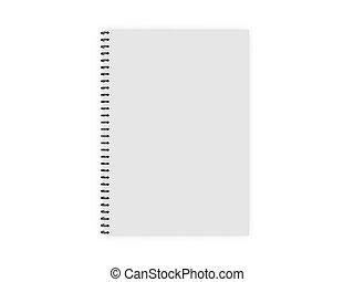 Blank Ring Binder - Blank white ruled notebook, ring binder,...