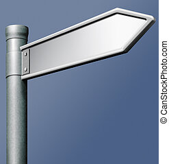 blank road sign arrow