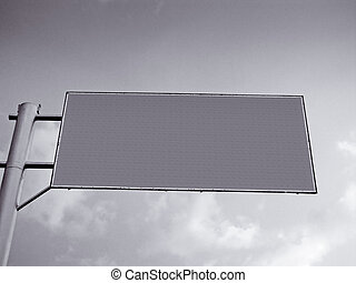 Blank Road sign Board