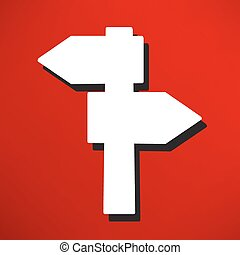 blank road sign icon