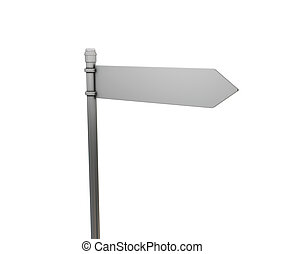 Blank road sign - 3D render of a blank road sign