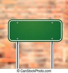 blank road sign template