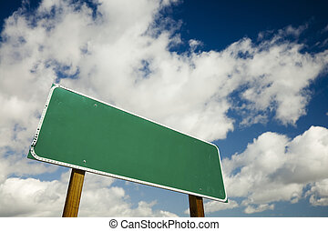 Blank Road Sign