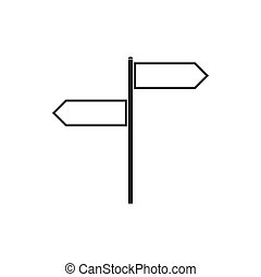 Blank road signs icon, simple style