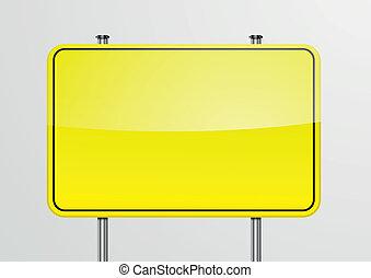 blank roadsign
