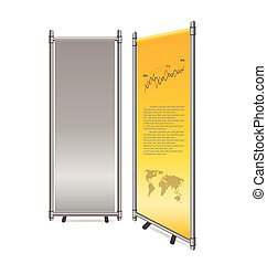 Blank roll up banner display