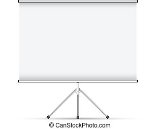 Blank roll up poster vector illustration