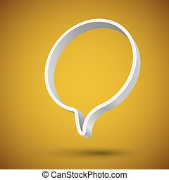 Blank round 3D speech balloon banner