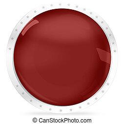 Blank Round Icon Badge