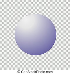 Blank round sphere ball of blue. Modern abstract vector sign