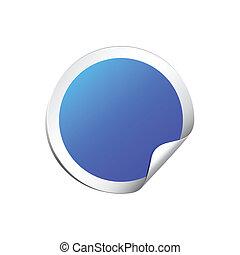 Blank round sticker