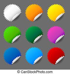 Blank round sticker set