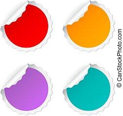 Blank round vector sticker