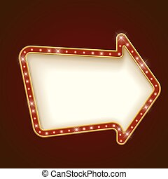 Blank Rounded Arrow Marquee Frame