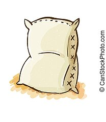 Vector illustration of a blank sack or bag