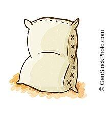 Vector illustration of a blank sack or bag