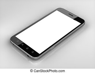 Blank screen custom  smart phone isolated