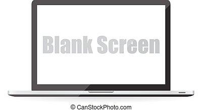 Blank screen of laptop. Vector illustration EPS10