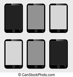 Blank Screen Smart Phone.