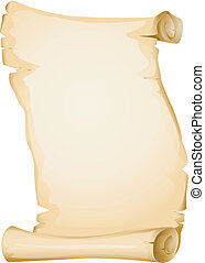 Blank Scroll - Illustration Featuring a Yellowish Blank...