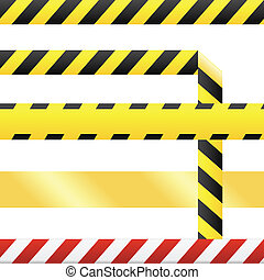Blank seamless caution tape vector - Caution or cuidado...