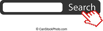 Blank search box vector icon