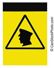 blank, security bevogter, patrulje, varsel underskriv