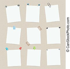 blank set of stickers with pins. vector design template