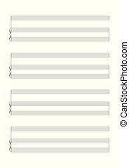 Blank Sheet Music Sheet for the notation of a voice or solo instruments Blank Sheet Music vector illustration