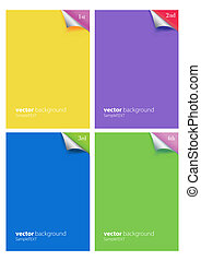 3d blank sheet of paper page with curl