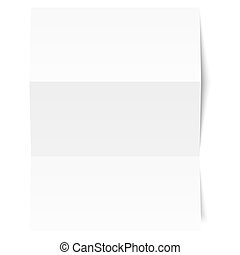 Blank sheet of white paper - folded
