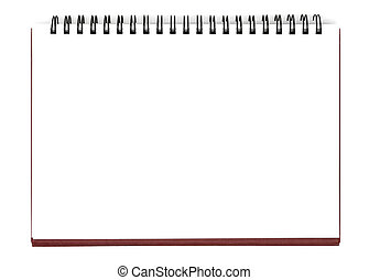 Blank Sheet - Opened notebook isolated with clipping path...