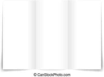 Blank sheet template