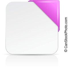 Blank sheet with corner