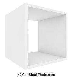 blank shelf. 3d render on white background