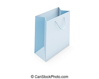 shopping bag - blank shopping bag stand on white background