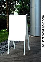 a blank restaurant signpost