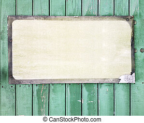 Blank sign - Aged blank sing on a wooden wall
