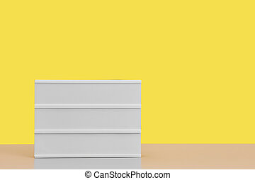 Blank Sign Background against Yellow