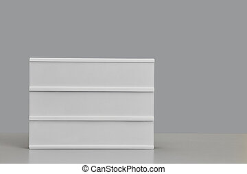 Blank Sign Background on Grey