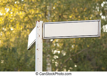 Blank sign for advertisement