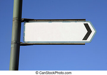 Blank sign for your message