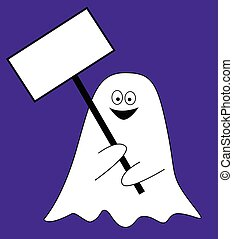 Blank Sign Ghost