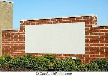 Blank Sign in Brick